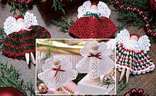 Christmas Clothespin Angels Crochet Pattern ePattern