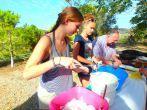 Kochen im freien auf Kreta