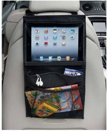Organizer-Backseat Headrest Hanging Organizer with Tablet / iPad and Headphone Storage