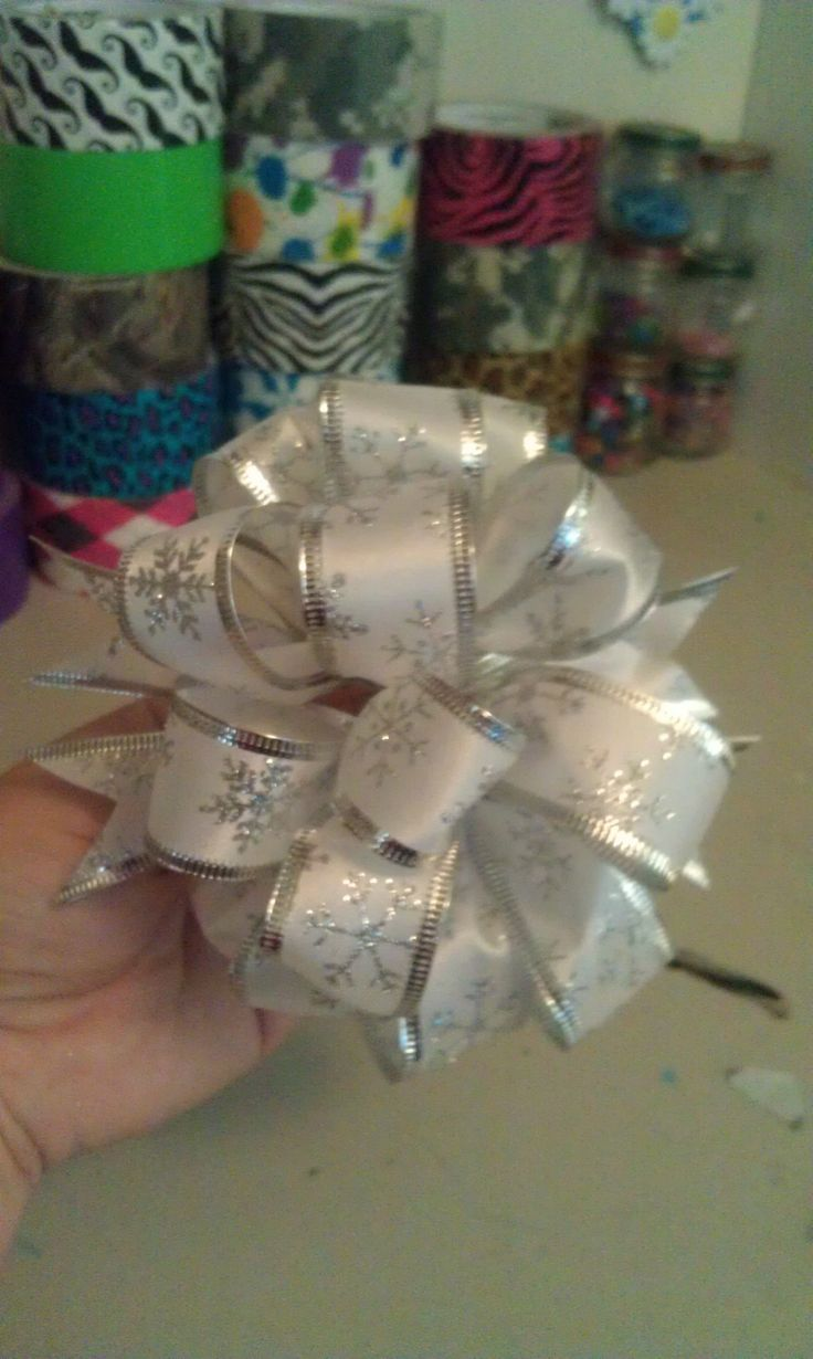 Have you ever gotten a gift so nicely wrapped with that amazing bow attached to the front that you don't want to open because it's so pretty?  With the help of these instructions you can make your own fancy Christmas bows that people will adore!