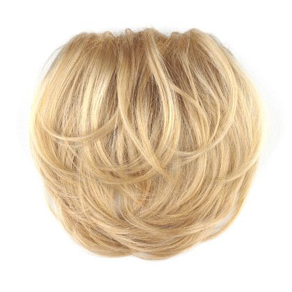 "Add instant body with this lightweight, easy to wear hairpiece featuring a honeycomb base that allows your own hair to pull through, and two snap-on clips for easy application. Base: 4.25"" x 5.5"" Length:..."