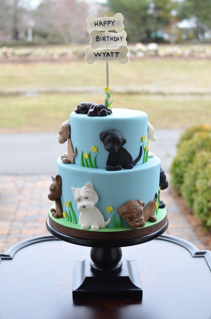- Puppies birthday cake