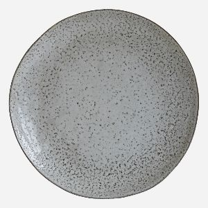 House Doctor Rustic Dinner Plate: Rustic style dinner plate in blue/grey by Danish brand, House Doctor. A stylish kitchen staple. Finish/colour may vary.