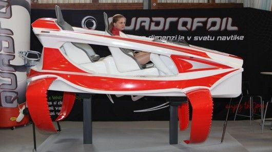 The US$19,000 Quadrofoil - ecologically-sound 40 km/h electric hydrofoil sportscar for the water: Km H Electric, Electric Vehicles, Cars Gadgets, Gadgets And Gizmos, Sports Water, Hydrofoil Sportscar, Electric Hydrofoil, Unique Transportation, Concept Boats