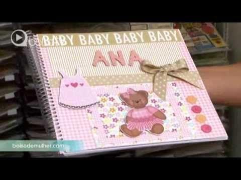 Album da Maria Clara - Mini Album para bebé (scrapbooking baby girl album) - YouTube