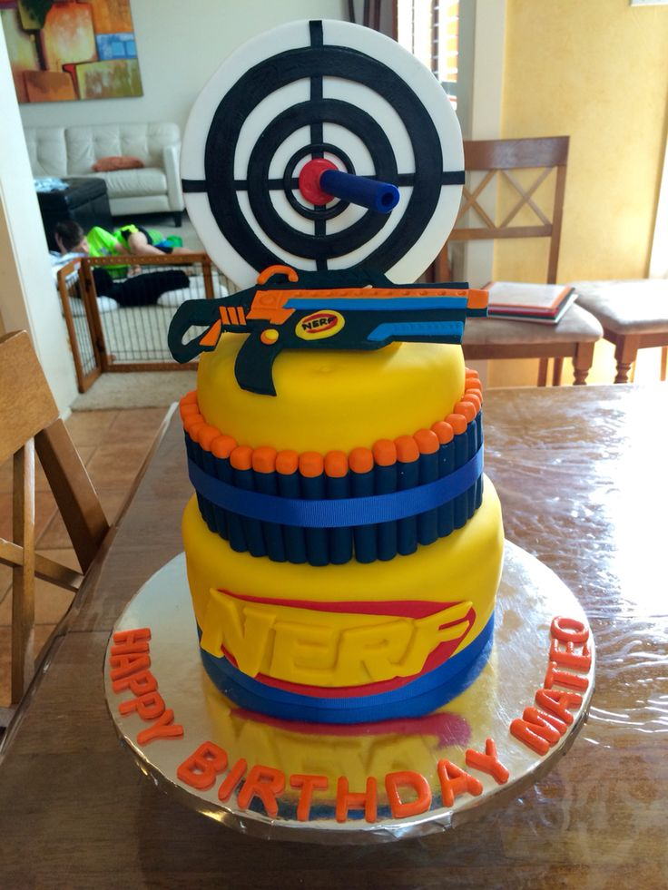 Best Cake Decorating Gun : 25+ best ideas about Nerf Gun Cake on Pinterest Nerf ...