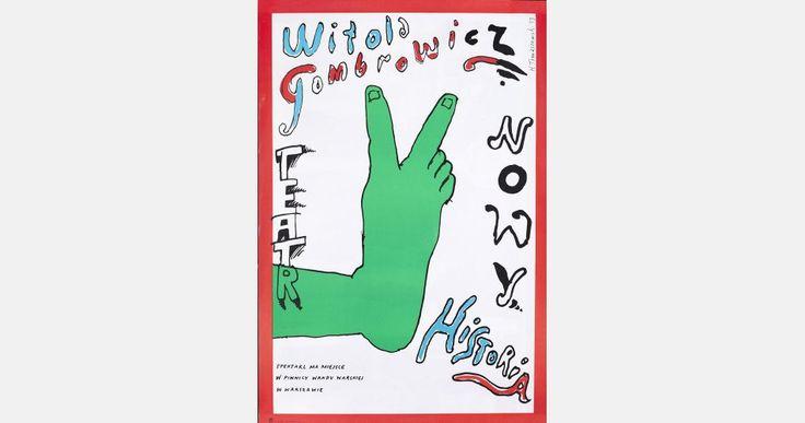 Henryk Tomaszewski, Witold Gombrowicz's History, theatre poster, 1983, image courtesy of Filip Pągowski