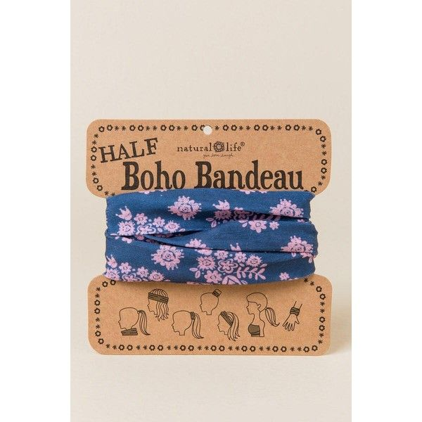 Half Boho Bandeau by Natural Life in Wall Flowers - Navy ($12) ❤ liked on Polyvore featuring accessories, scarves, navy, bohemian shawl, navy scarves, navy blue scarves, bohemian scarves and flower scarves