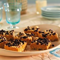 Chocolate Chip Pumpkin Bars by SPLENDA® I would omit the choc chips but this looks good.