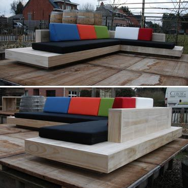 Loungeset 'cuba' in accoya hout | Meubelen | rawcreations bvba outdoor furniture designs