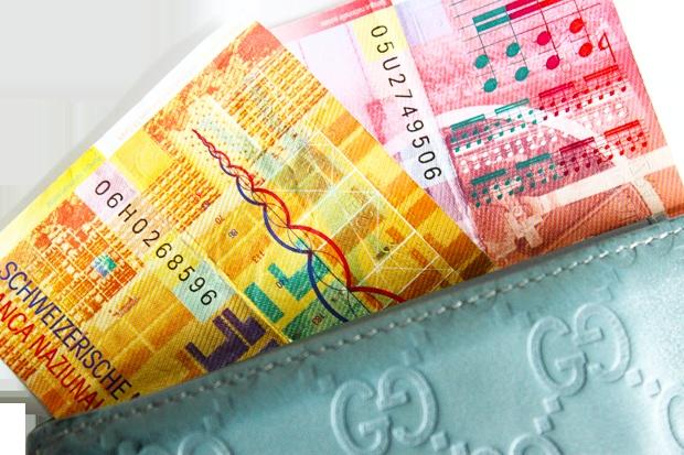 Gewinncode im Geldbeutel.
