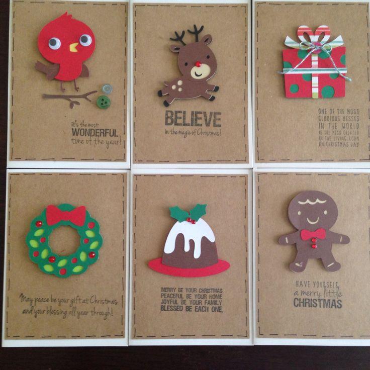 Cricut Christmas cards handmade Xmas create a critter 2 winter frolic by willow fox design