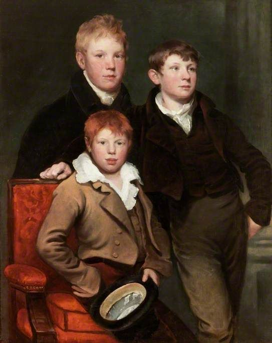 The Three Brothers, the Sons of Thomas Dallas by George Watson (Scottish 1767–1837)