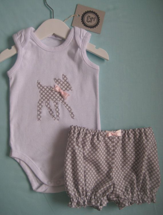 Bambi Onesie / Puffy Pants Set by PrettyBabyThings on Etsy, $35.00