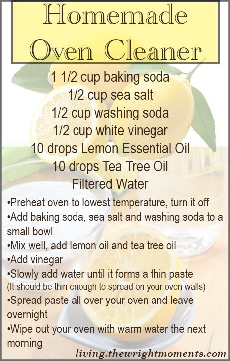 Chemical Free Oven Cleaner - DIY cleaners with Living Wrightr