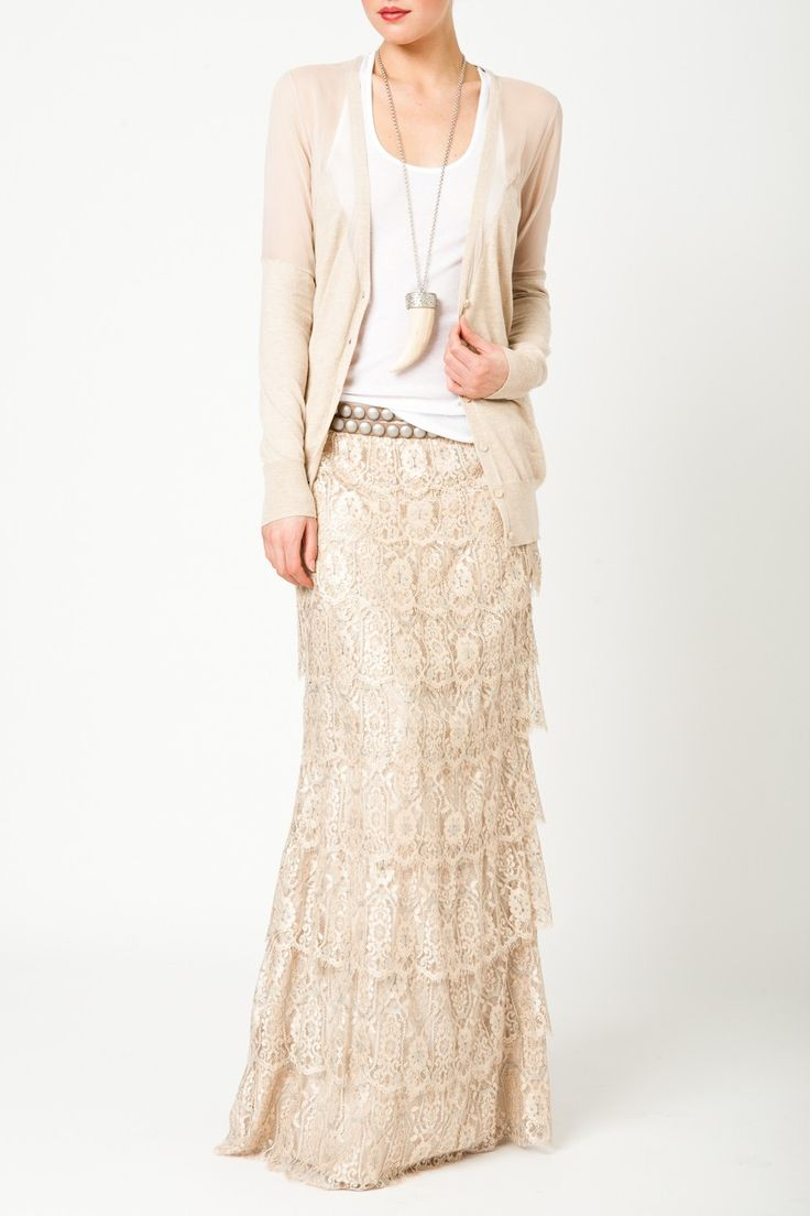 Overlapping Lace Phillips Skirt. Spring 2012 Haute Hippie