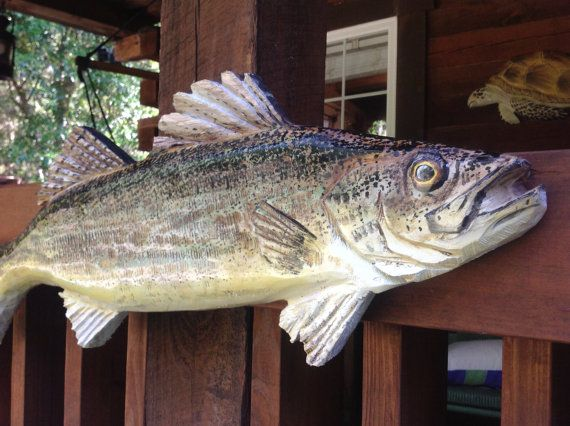 Leucomas 28 rústico hogar motosierra madera pescado por oceanarts10