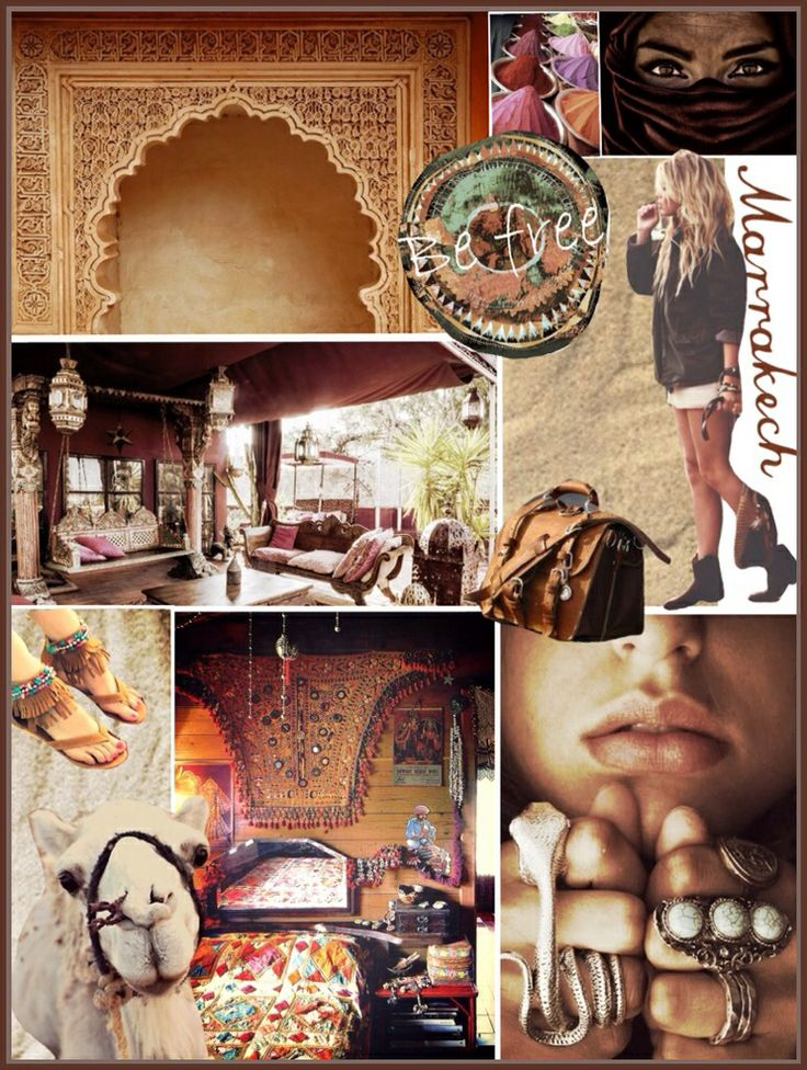 Travel the world and visit beautiful marrakech moodboard