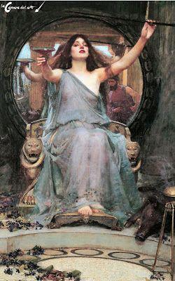 Circe ofreciendo la copa a Ulises | La cámara del arte