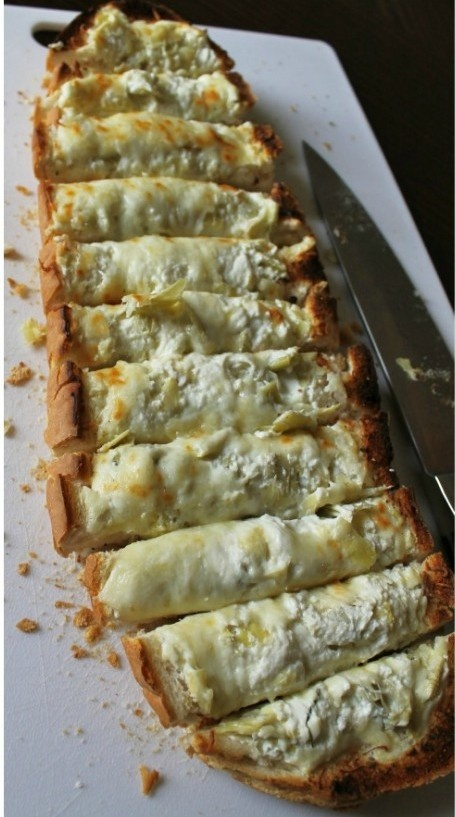 Cheesy-Choke Bread Pizza - ok I'll take one more slice of that!