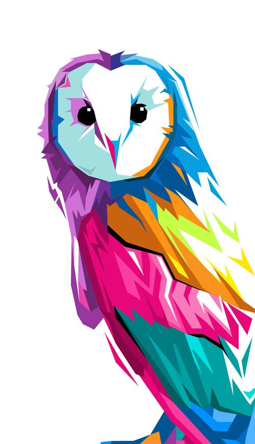 Night Watch #Owl #Illustrations #Creative #Colours