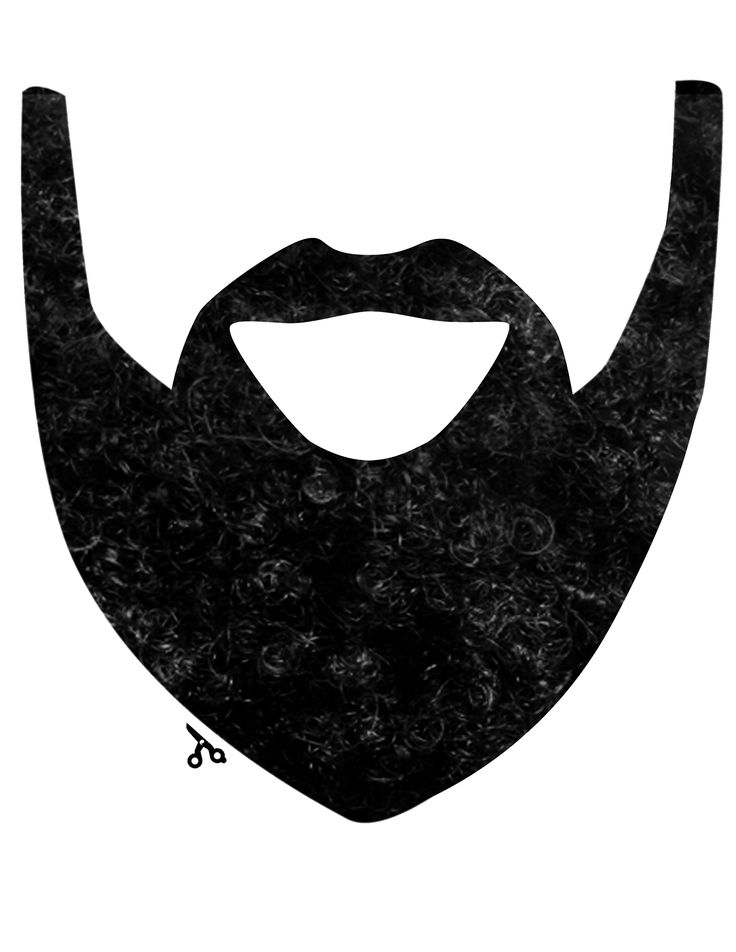 Beard Cut Out Pattern | Calleigh's Clips & Crochet Creations: Free Pattern - Fear The Beard!