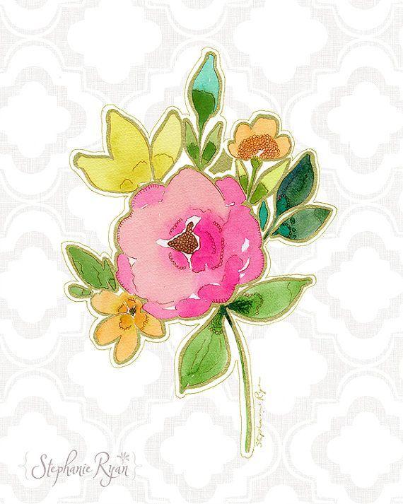 Love Bouquet Art Print by stephanieryanart