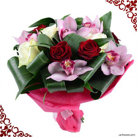 Romantic rich bouquet for a real lady