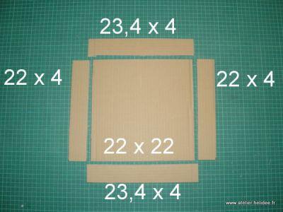 Boîte en carton avec couvercle, Tuto cartonnage - Loisirs créatifs http://www.bluemarguerite.com/Loisirs-creatifs/tuto-1550-boite-en-carton-avec-couvercle.deco