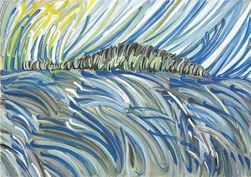 Sedef Adası 130.00 x 192.00 cm. 1983 Tual üzerine yağlıboya