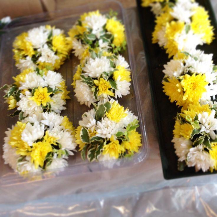 Minicake floreale ~ Flower minicake idea per segnaposto , cene, pranzi, centrotavola