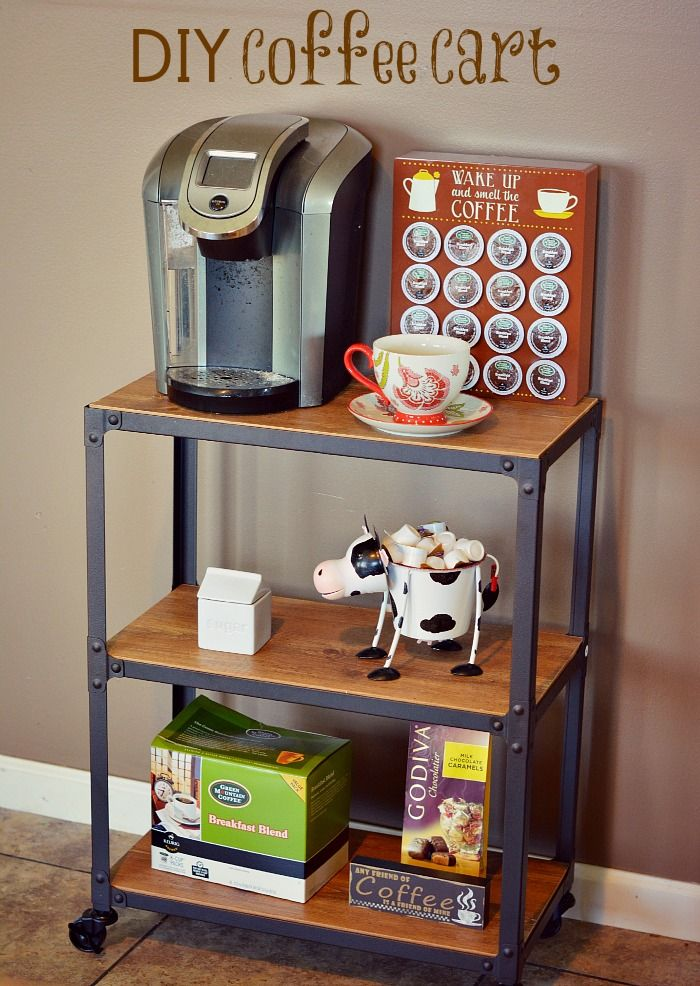 17 best images about coffee bar on pinterest coffee for Coffee carts for office