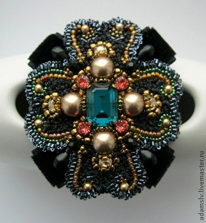 6 - Krisitina Adams is beadwork artist from Latvia. She makes amazing unusual bead embroidered brooches.