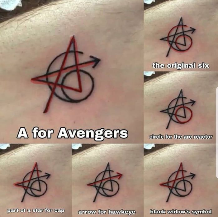 The original Avengers have gotten a matching tattoo #avengers # #the #one # have