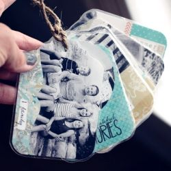 Make personalized luggage tags for next to nothing. Fun for backpacks, camera bags, key chains and more.