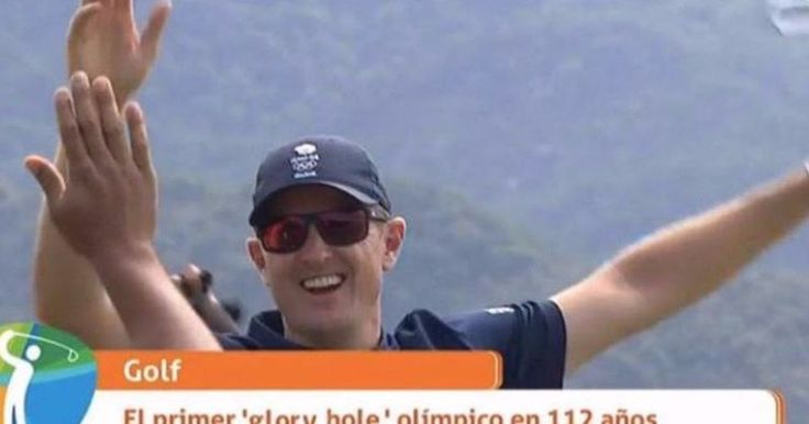 Spanish TV praises Olympic golfer for getting first 'glory hole' in 112 years