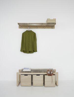 Cutter Bench & Boxes Oak