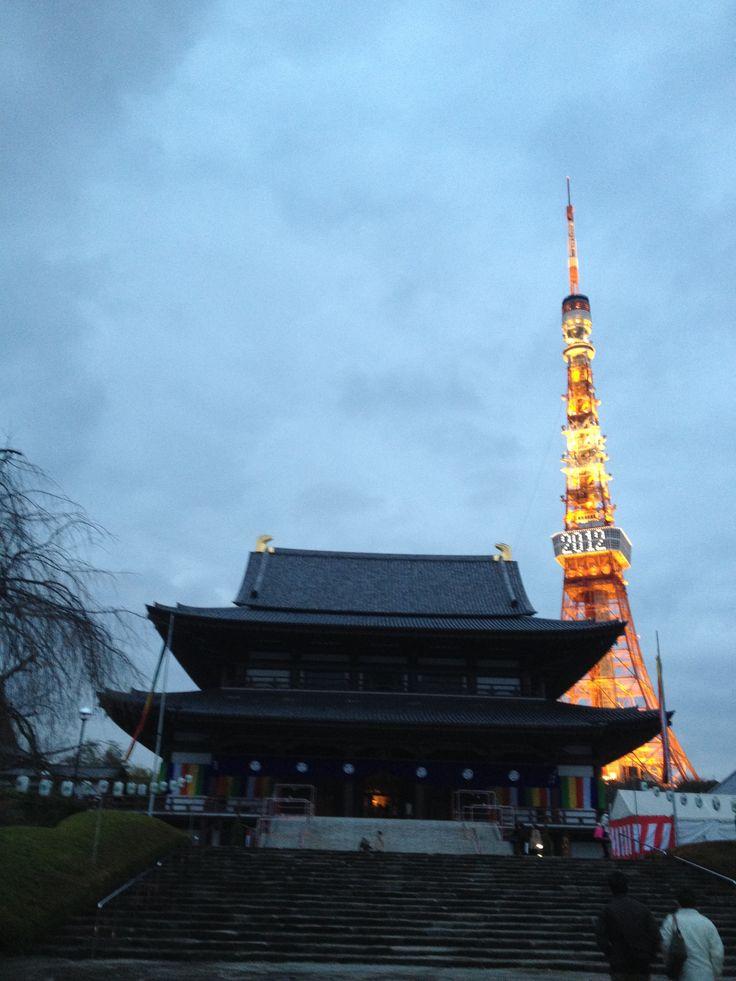 東京 増上寺にて