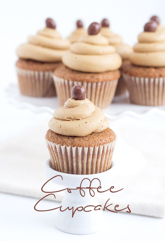 Coffee Cupcakes with Coffee Buttercream | Cookie Dough and Oven Mitt | Bloglovin'