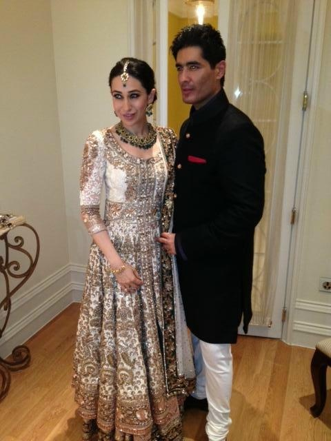Karishma Kapoor at her sister's wedding in a lovely Manish Malhotra's creation