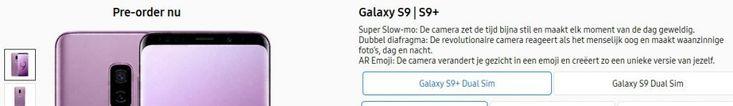 FYI: dual sim Galaxy S9 heeft hybride sim-slot  Net als in de Galaxy Note 8 kun je nu ook in de Galaxy S9en S9 Plus twee simkaarten kwijt. Weet wel dat het hier gaat om een hybride slot.  Ooit waren dual-sim Galaxy telefoons een zeldzaamheid hier in Nederland. Althans dual-sim toestelversies  in Samsung jargon Duos  van toptoestellen kwamen hier vaak niet of pas veel later op de markt. Tegenwoordig is dat anders. In de Galaxy Note 8 kun je standaard twee simkaarten stoppen. En op de nieuwe…