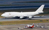 Aerotranscargo Boeing 747-409(BDSF) ER-BAM aircraft, skating at Hong Kong Chek Lap Kok International Airport. 17/11/2016.