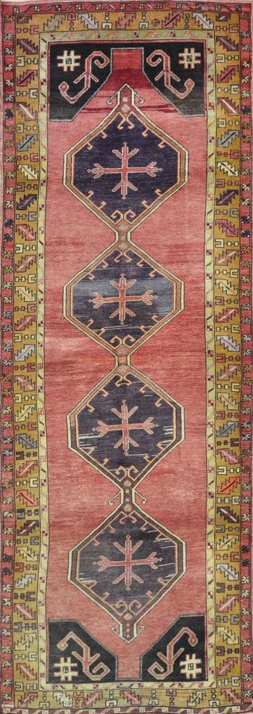 """Carpet Culture - TURKISH OLD RUNNER - 3' - 10"""" X 10' - 9""""  - A 023"""
