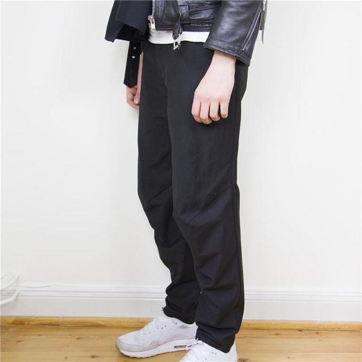 """Svarta kostymbyxor med """"knän"""", Minimarket för Weekday på Tradera.com -"""
