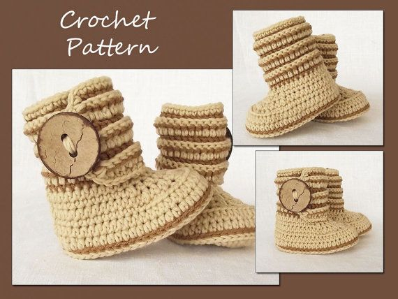 Hey, I found this really awesome Etsy listing at https://www.etsy.com/listing/181819144/crochet-baby-boots-pattern-crochet-boot