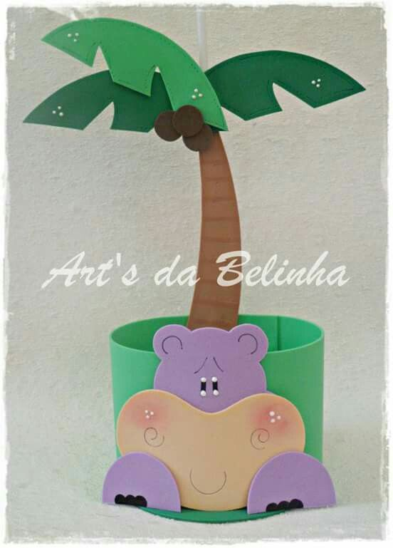 Hipopótamo palmera