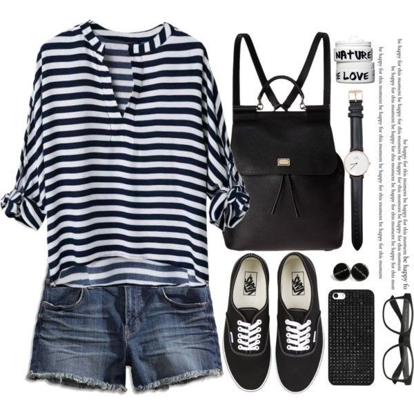 A fashion look from August 2015 featuring Lucky Brand shorts, Vans sneakers i Dolce&Gabbana backpacks. Browse and shop related looks.