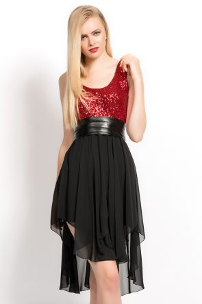 UPPER LOWER irony Siphon RED SEQUIN DRESS