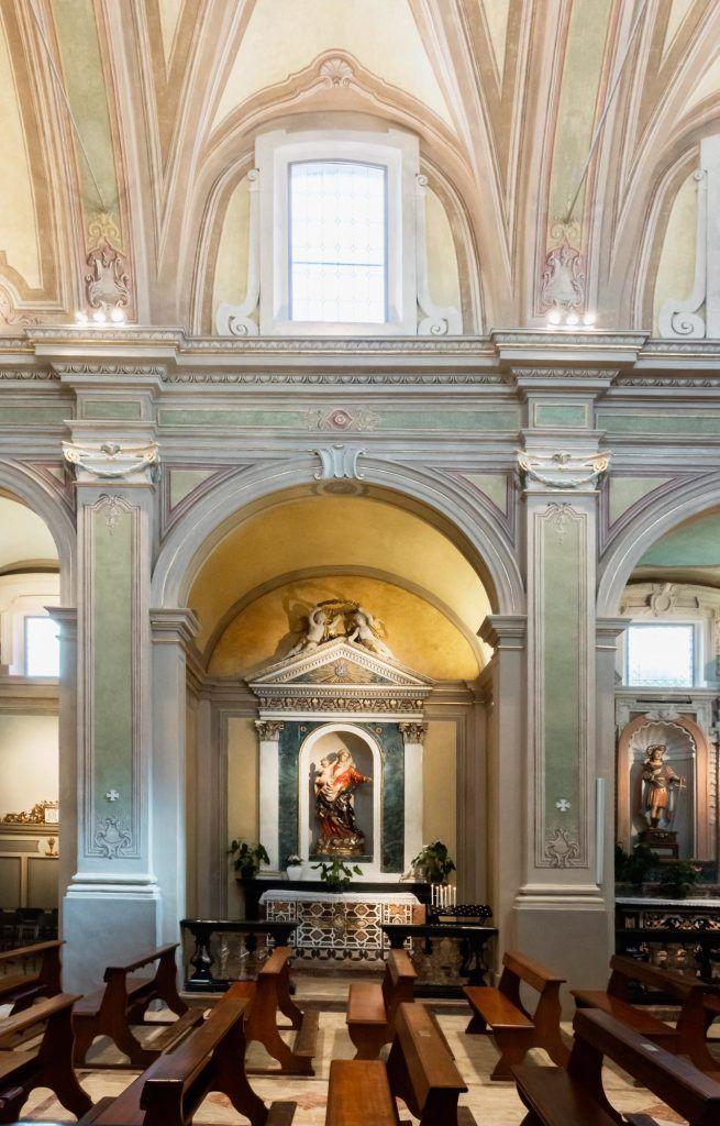 Chiesa San Michele Arcangelo di Certosa - HI LITE Next Fornitura apparecchi di #illuminazione #viabizzuno #tessera #cornice