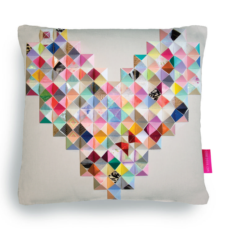 Go on.. treat yourself! #gift #christmas #homeware #cushion http://ohhdeer.com/competitions/pillow-fight-round-ii/7361/3d-paper-heart